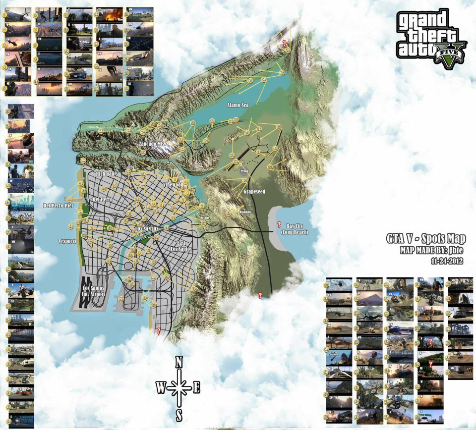 The map of Los Santos