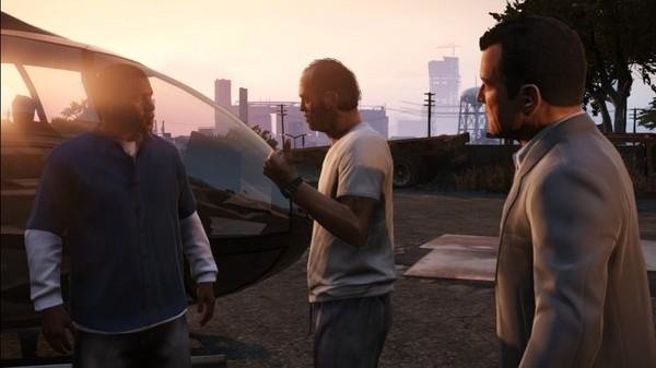 The screenshot of Michael, Trevor and Franklin