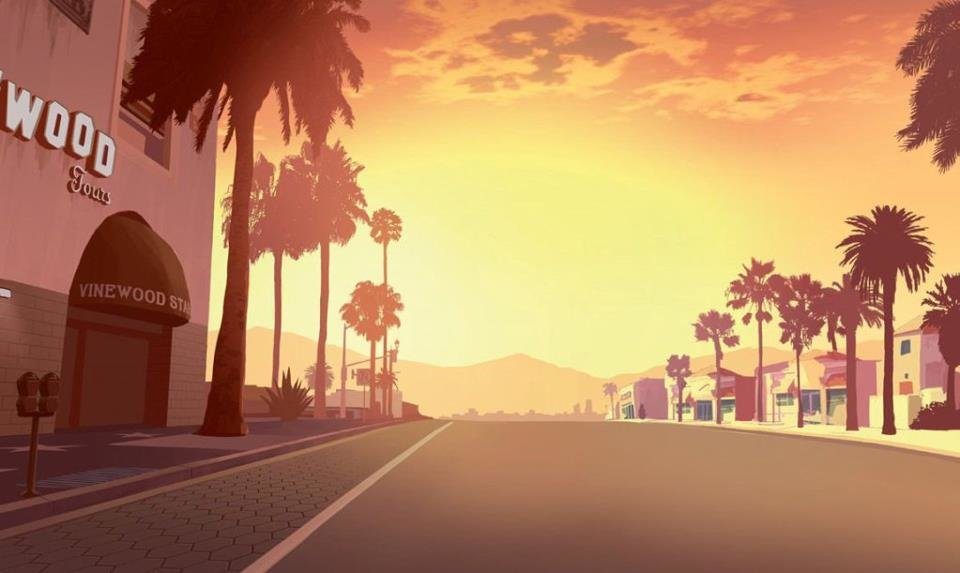 Vinewood Streets Background