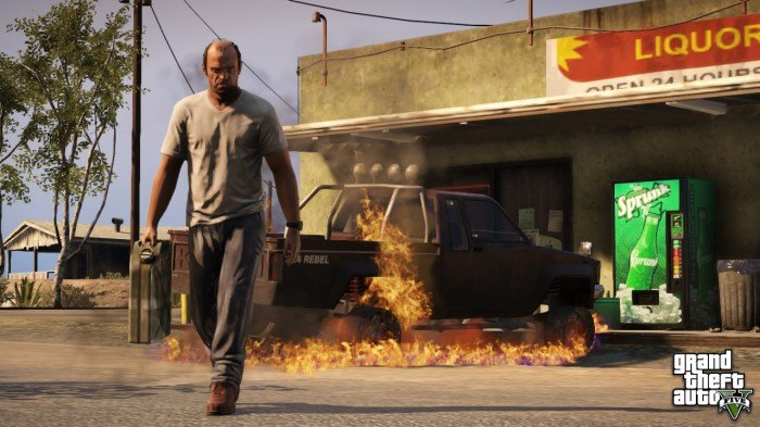 Trevor burns a rebel