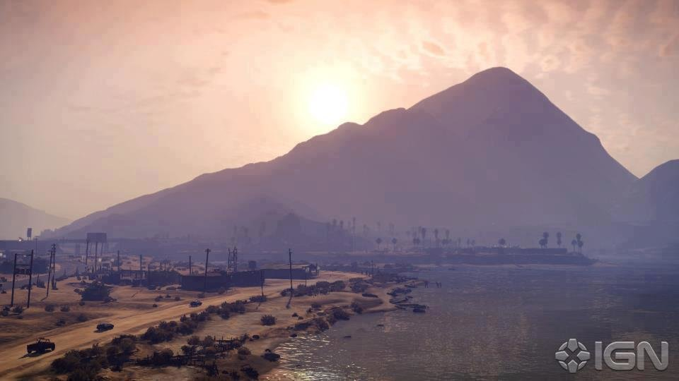 The sunset in GTA V
