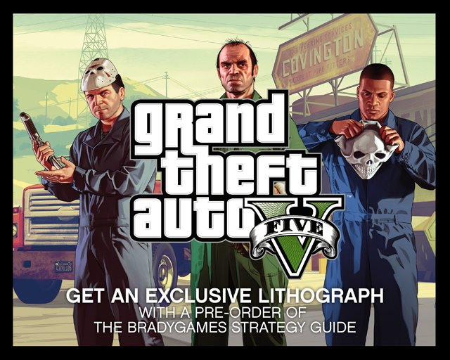 Pre-Order the GTAV Strategy Guide and Receive an Exclusive Lithograph