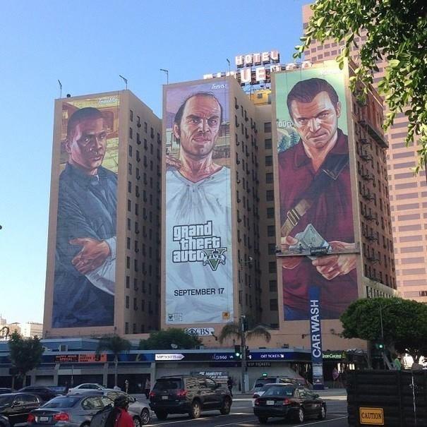 Hotel Figueroa in LA: Franklin, Trevor, Michael