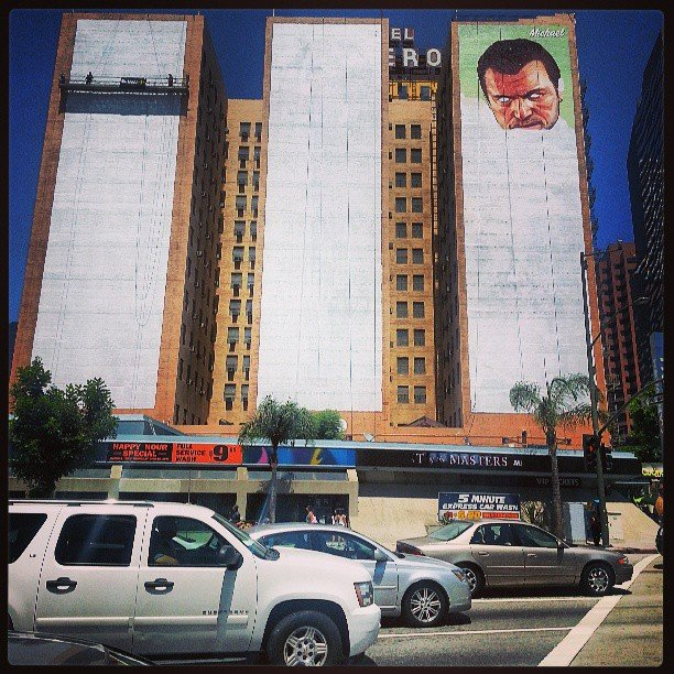 Hotel Figueroa in LA Michael first, then Trevor & Franklin!!