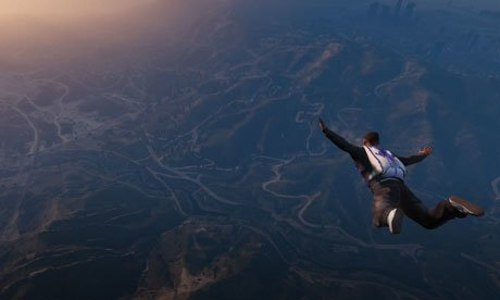 Sky diving in Los Santos