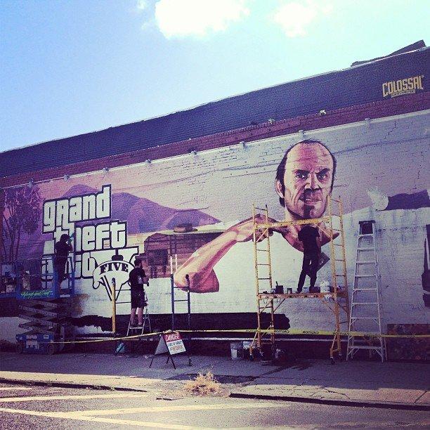 Big ad of Trevor in NYC GTA V