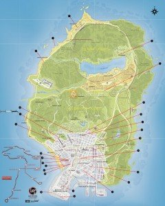 GTA 5 Properties Locations Map