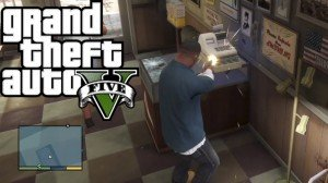 Robbing a store in GTA V