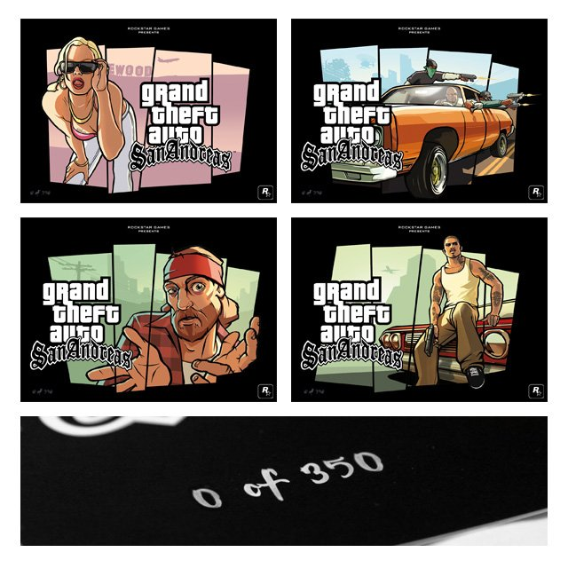 San Andreas Limited-Edition Lithographs