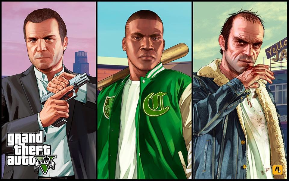 The brand new artwork of Michael, Franklin and Trevor